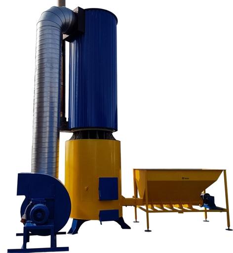 Твердотопливный теплогенератор для отопления воздухом